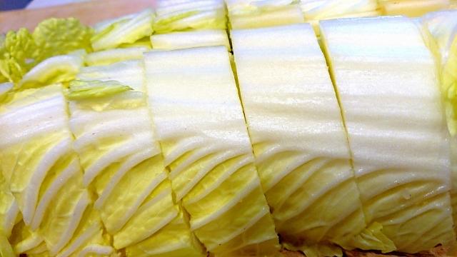 白菜の冷凍のし方